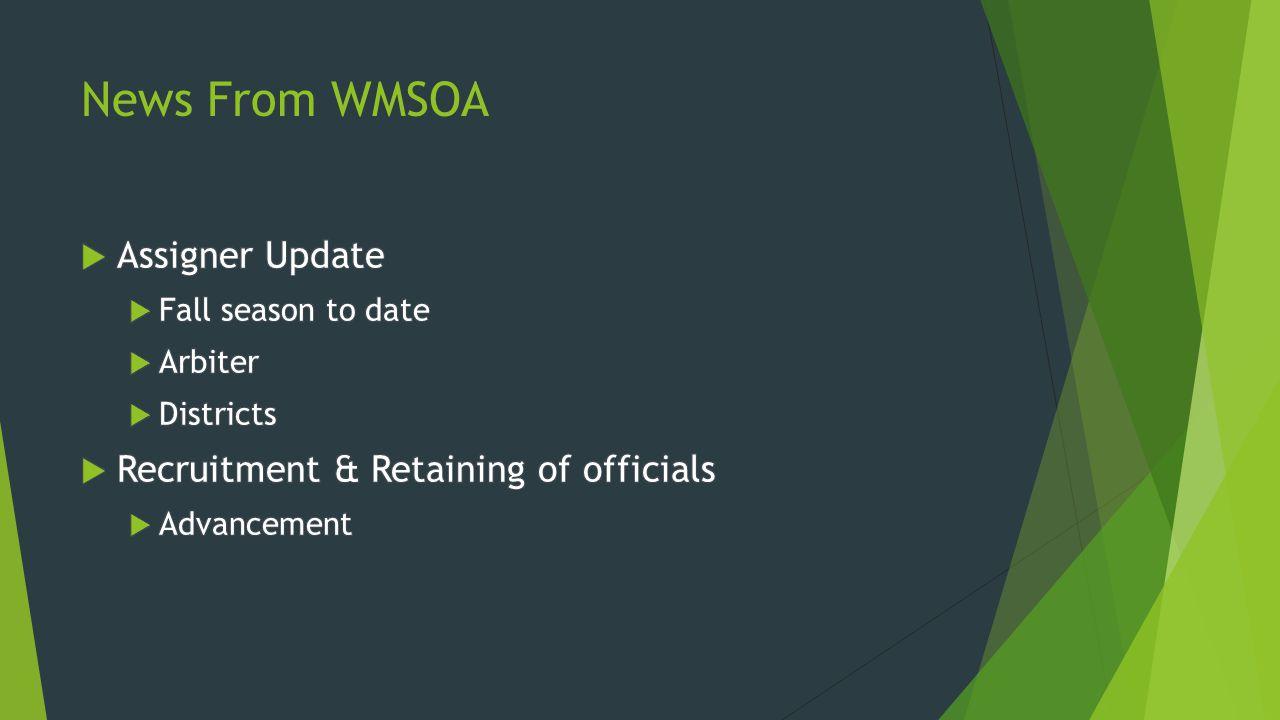 News From WMSOA