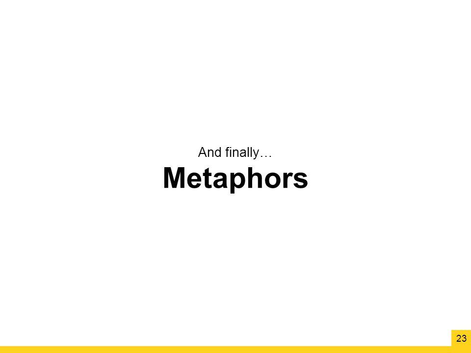 And finally… Metaphors 23