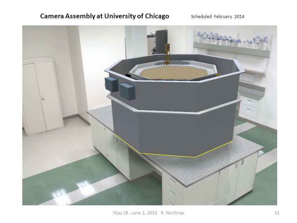 Camera Assembly at University of Chicago Scheduled February 2014 11May 28 - June 1, 2013 R. Northrop