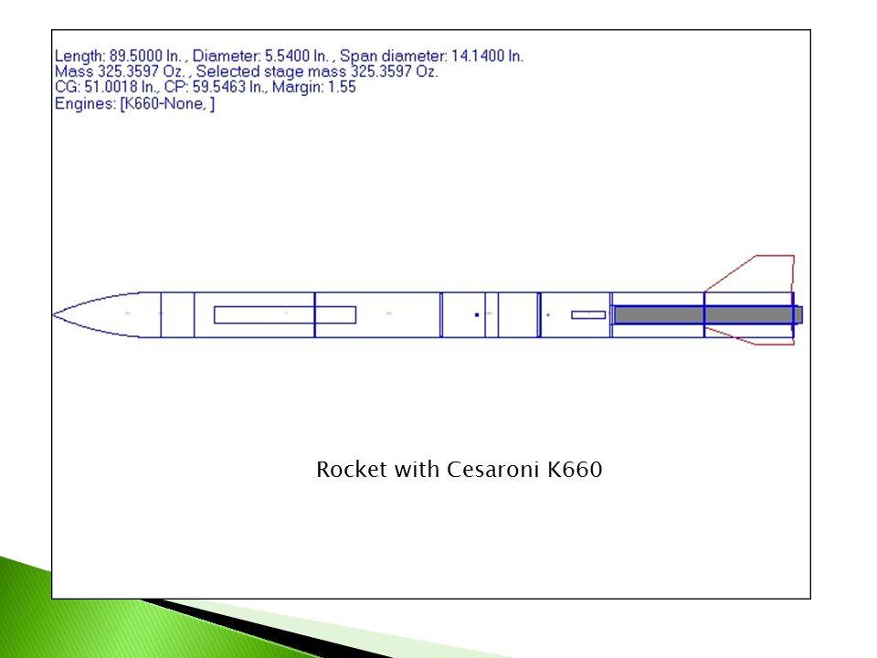 Rocket with Cesaroni K660