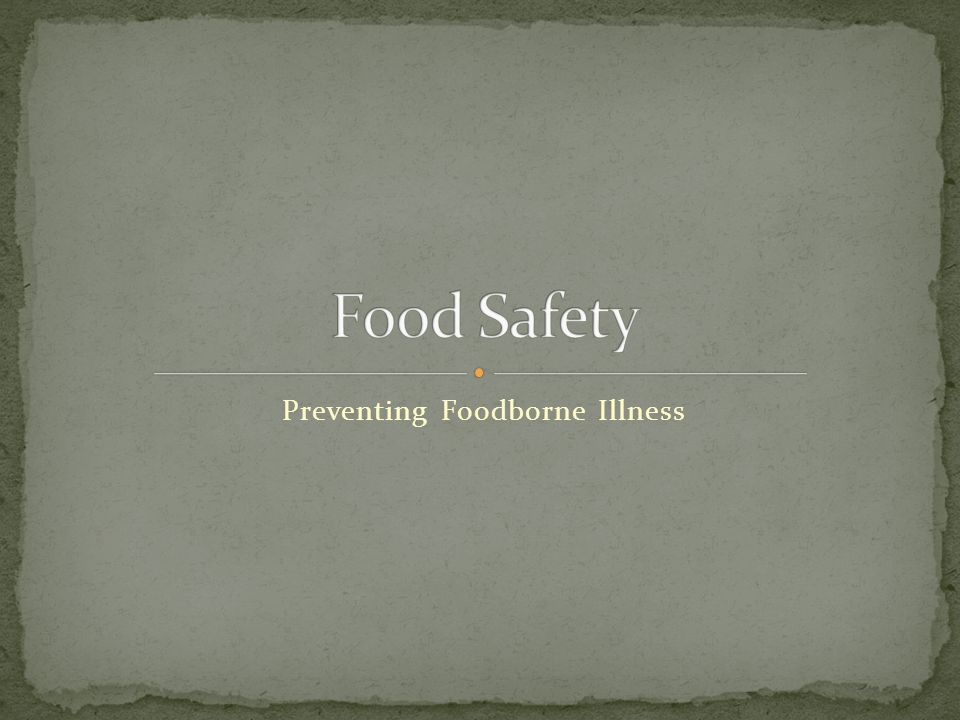 A foodborne illness is a disease that is transmitted to humans by food.