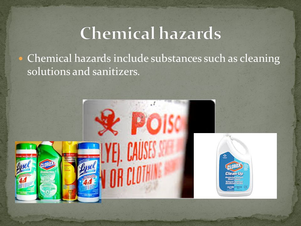 Physical hazards are foreign particles, like glass, metal, or fingernails.