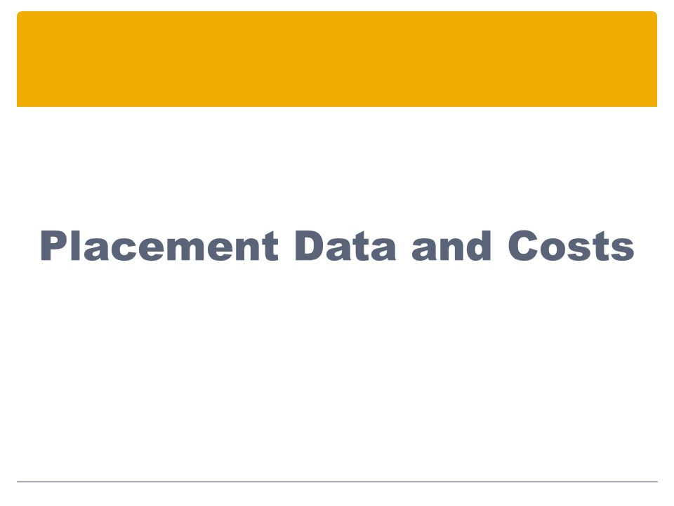 Placement Data and Costs