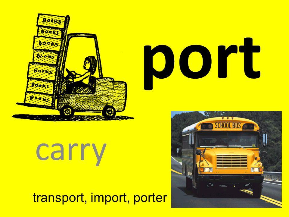 port carry transport, import, porter