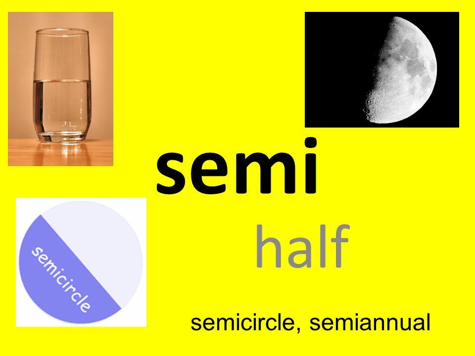 semi half semicircle, semiannual