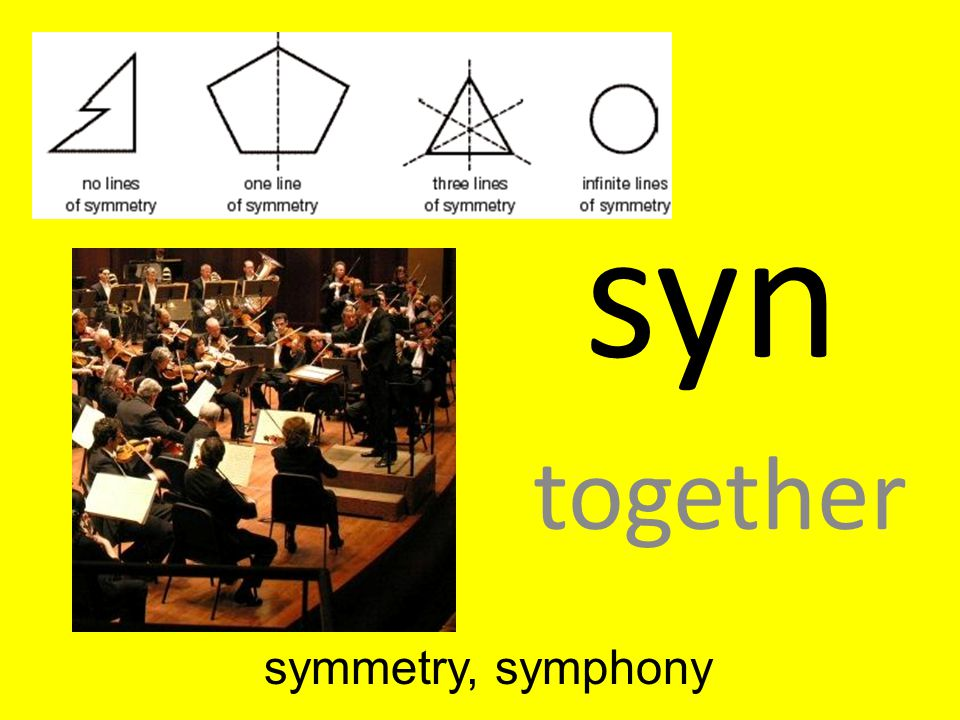 syn together symmetry, symphony