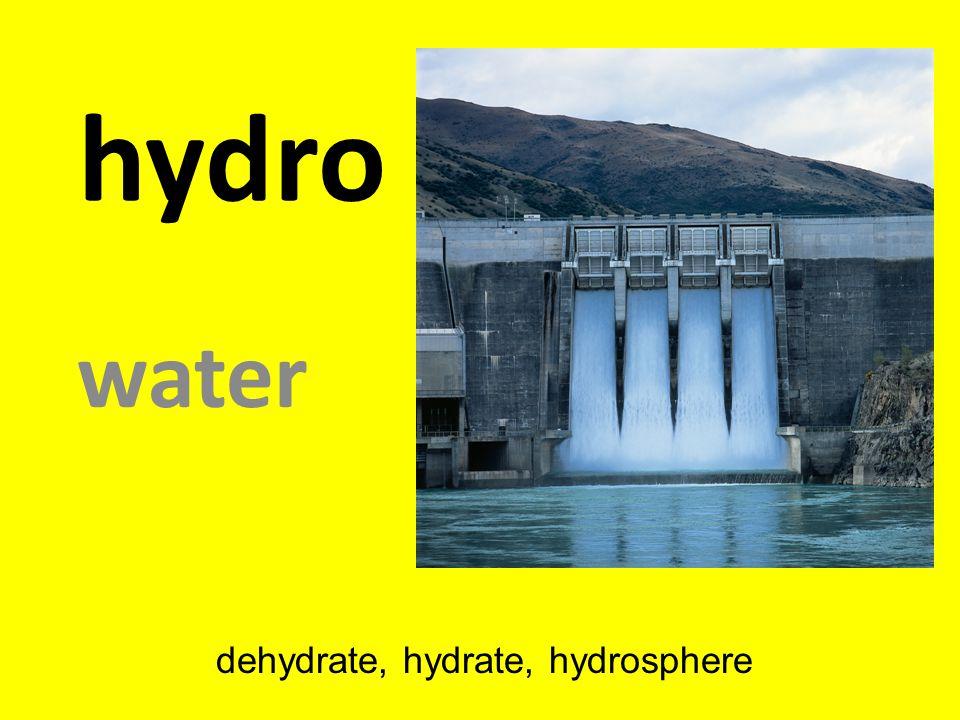 hydro water dehydrate, hydrate, hydrosphere