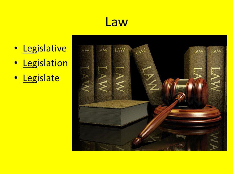 Law Legislative Legislation Legislate