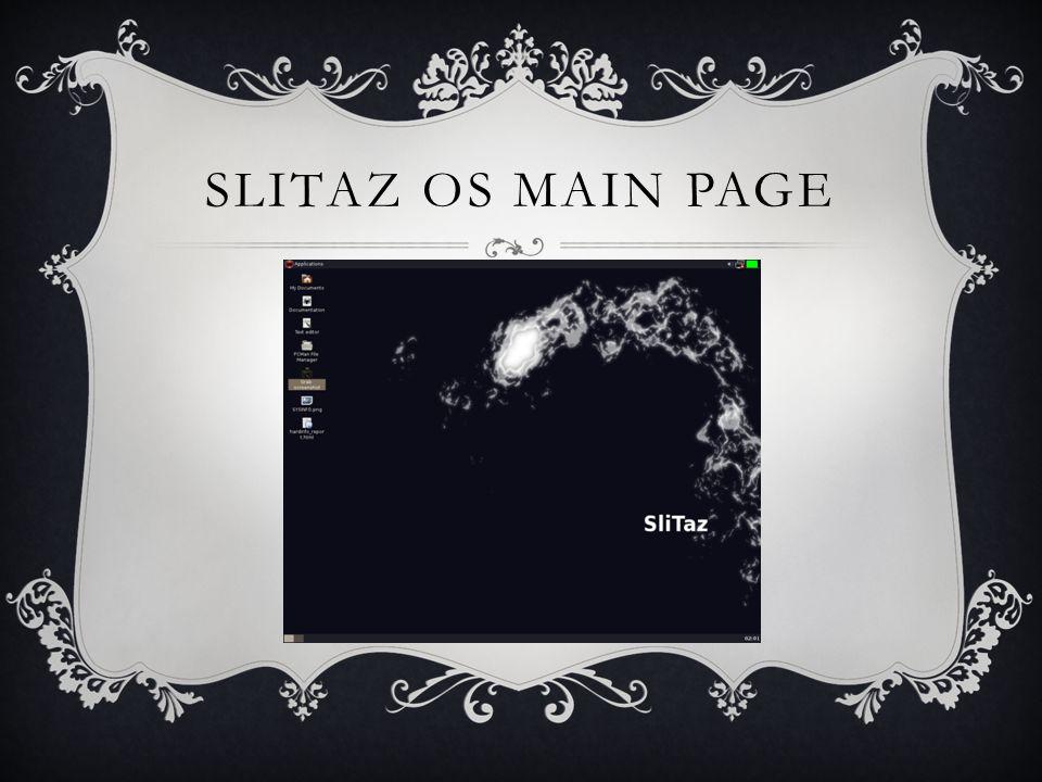 SLITAZ OS MAIN PAGE
