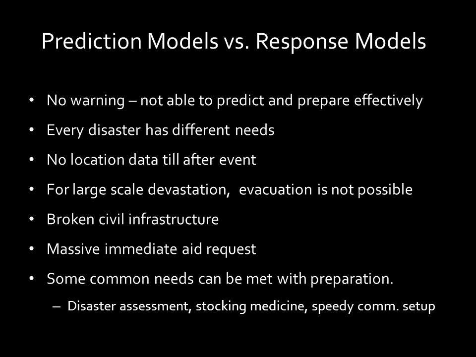 Prediction Models vs.