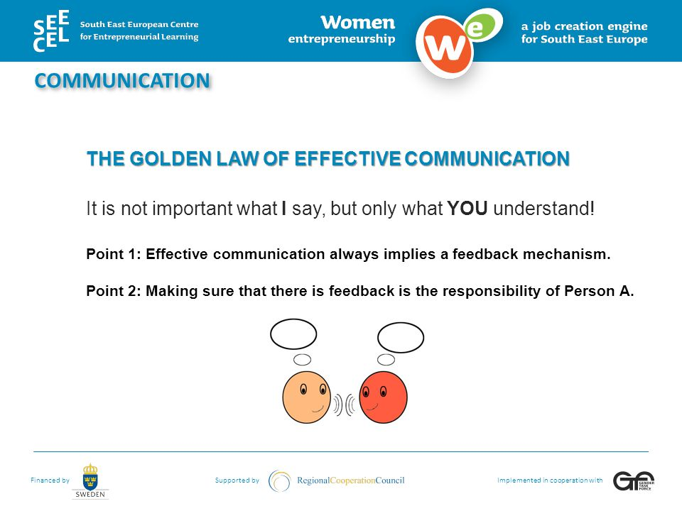 Financed bySupported byImplemented in cooperation with WHAT IS INTERPERSONAL COMMUNICATION.