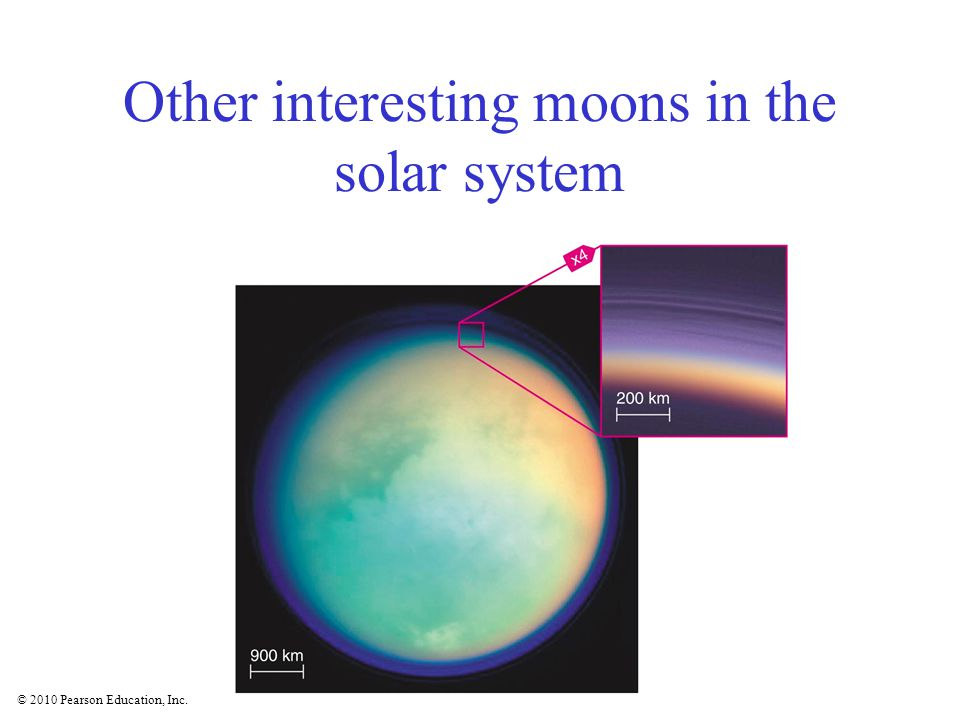 © 2010 Pearson Education, Inc. Other interesting moons in the solar system