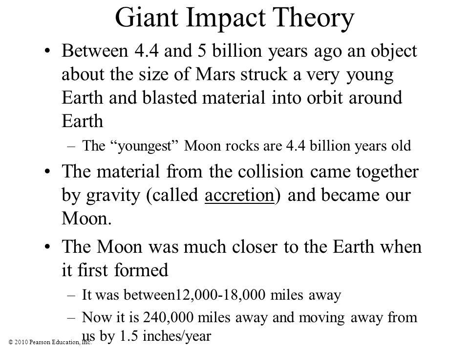 © 2010 Pearson Education, Inc. Giant Impact