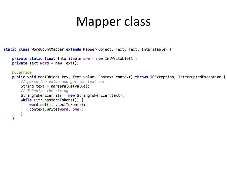 Mapper class
