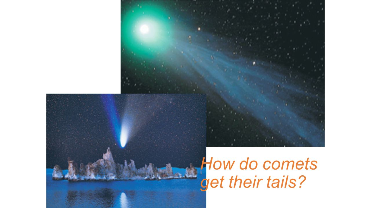 How do comets get their tails
