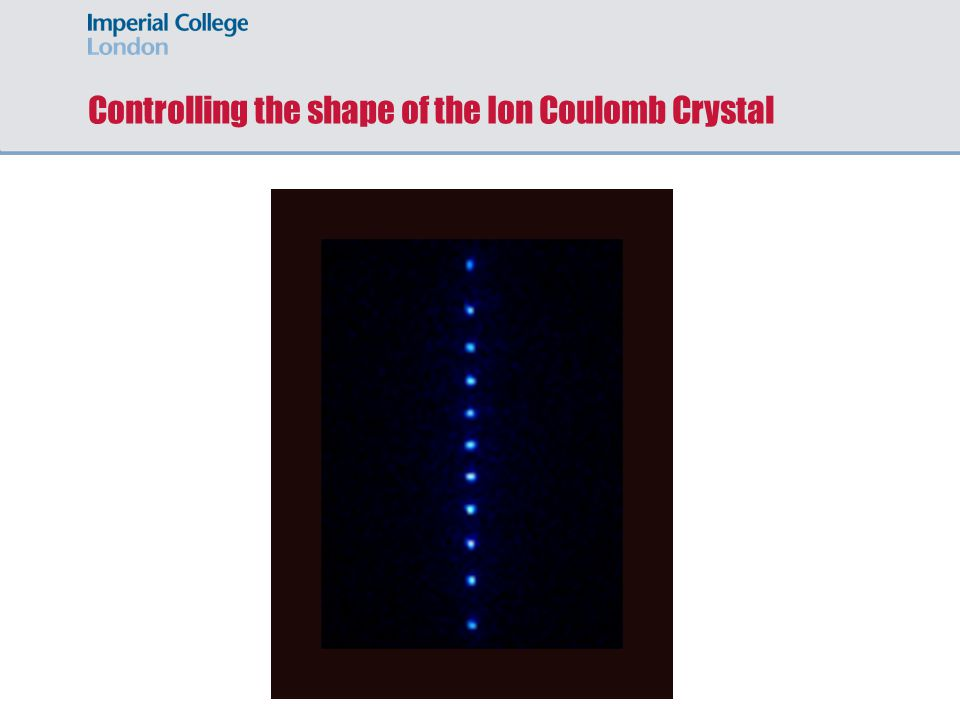 Controlling the shape of the Ion Coulomb Crystal