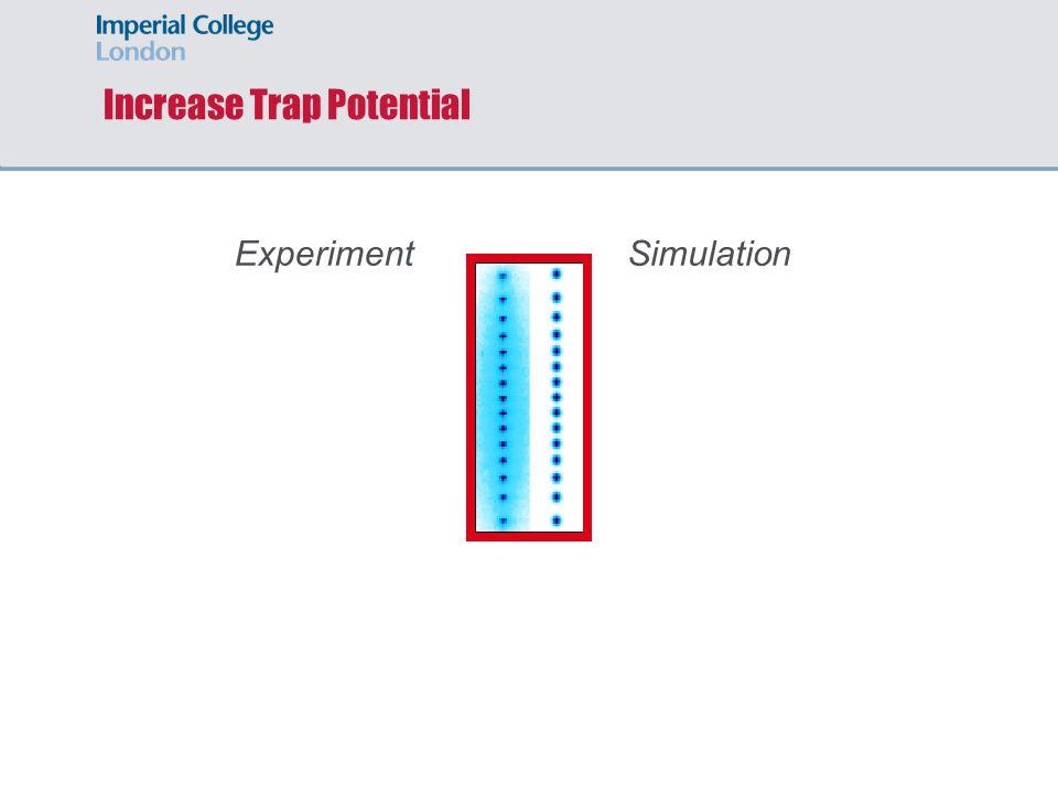 Increase Trap Potential ExperimentSimulation