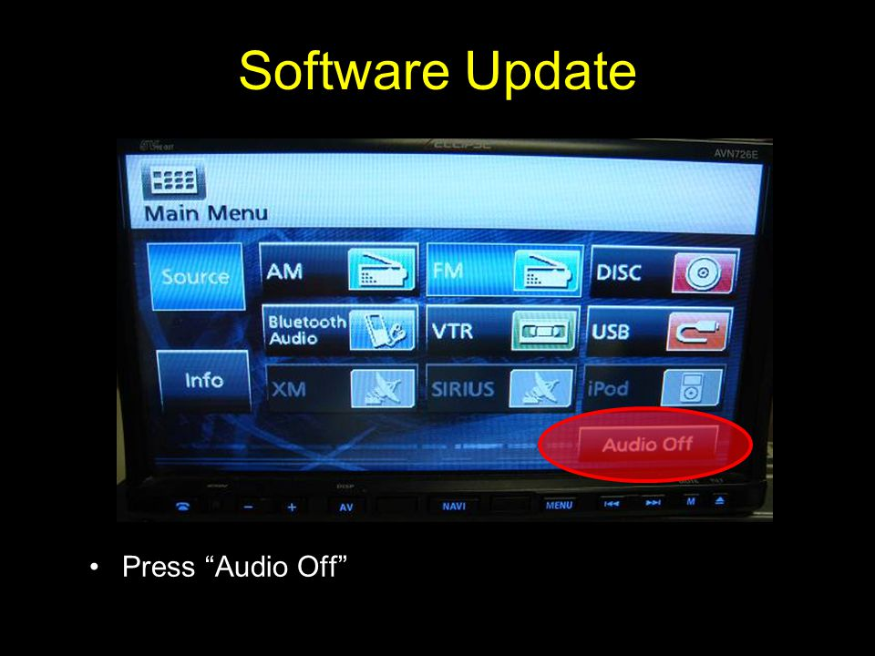 Software Update Press Audio Off