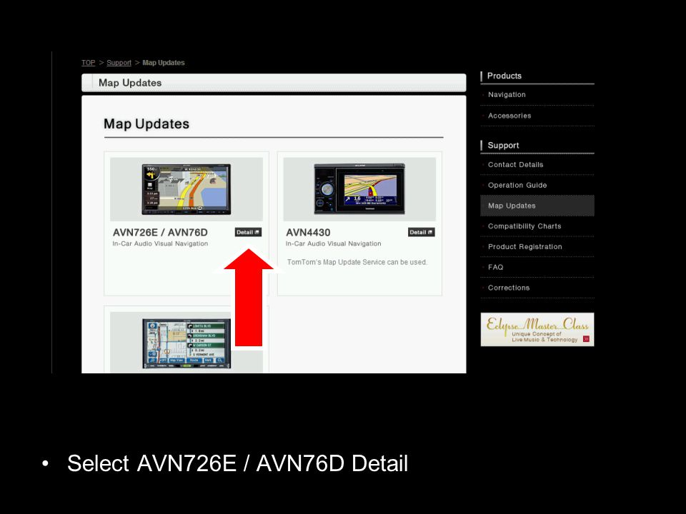 Select AVN726E / AVN76D Detail