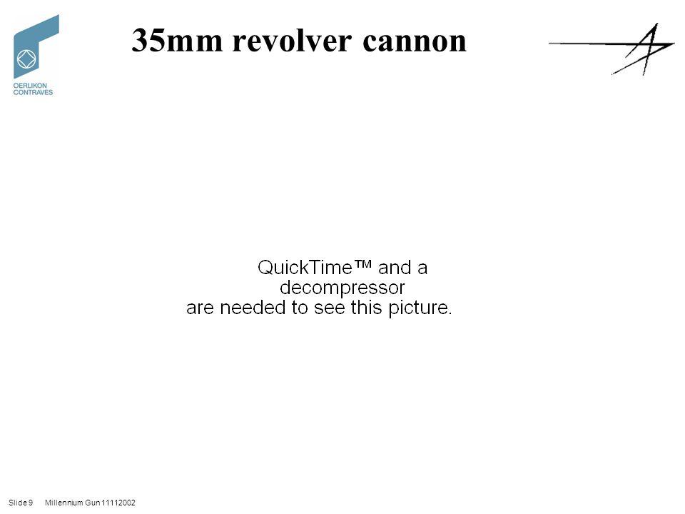 Slide 9 Millennium Gun 11112002 35mm revolver cannon