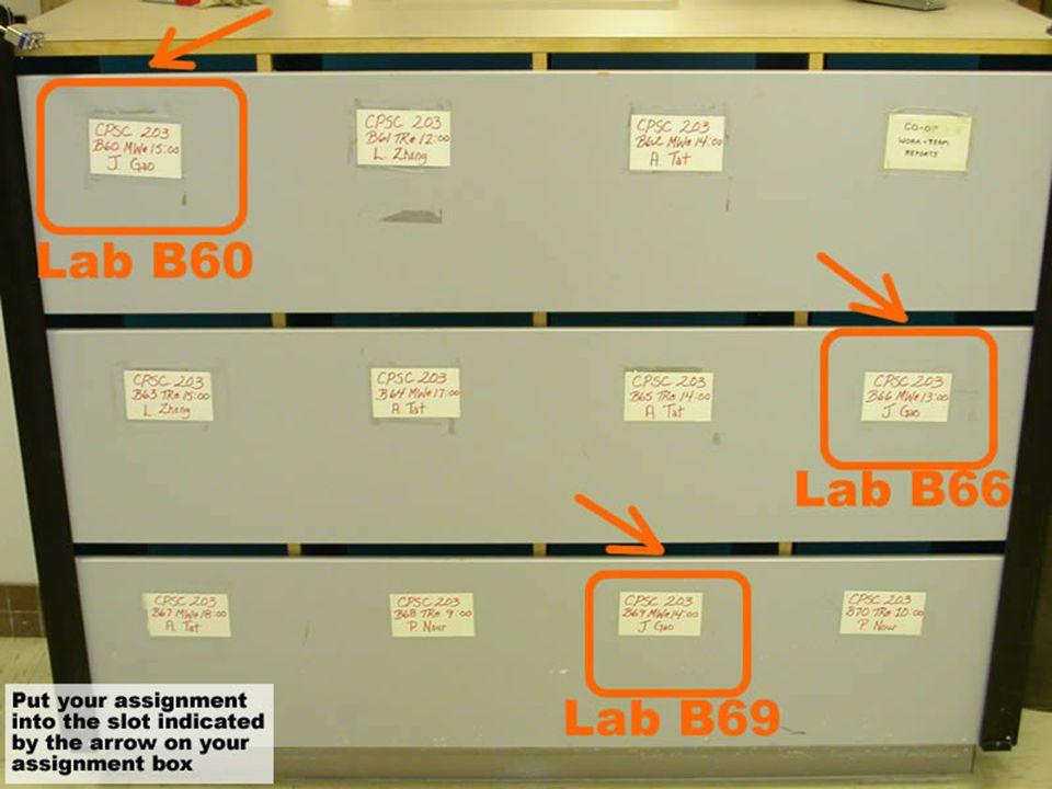 Jan 20, 2003CPSC 203 Lab by Jie Gao