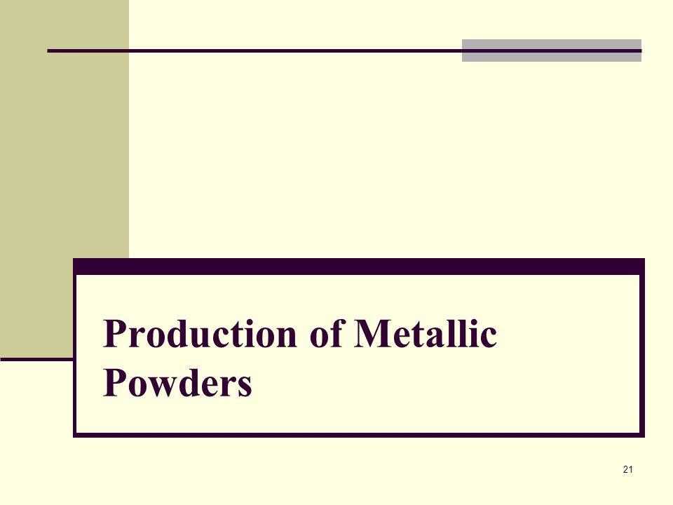 Production of Metallic Powders 21