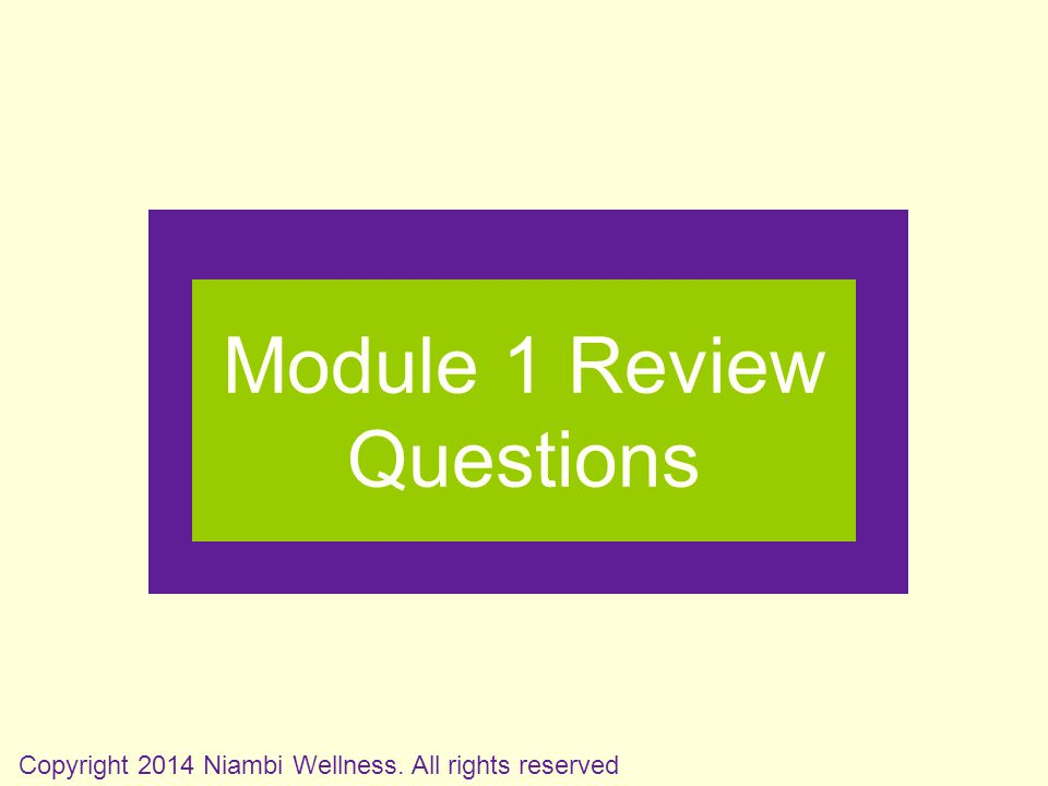 Module 1 Review Questions