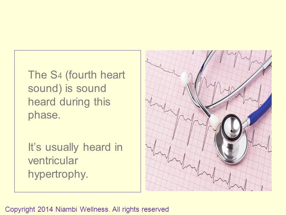 The S 4 (fourth heart sound) is sound heard during this phase.