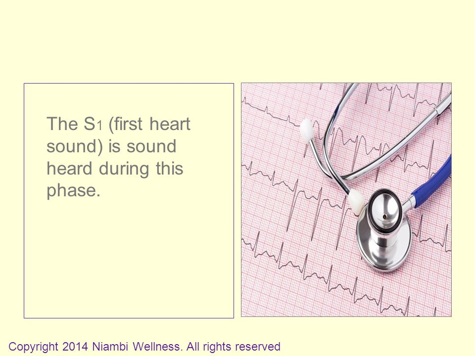 The S 1 (first heart sound) is sound heard during this phase.