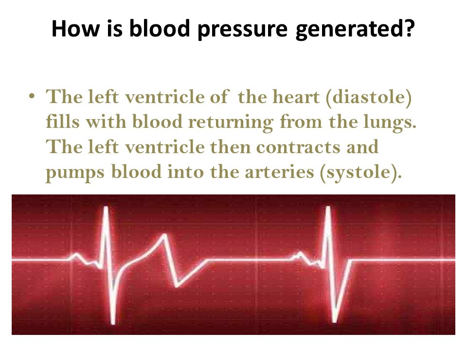 How is blood pressure generated.