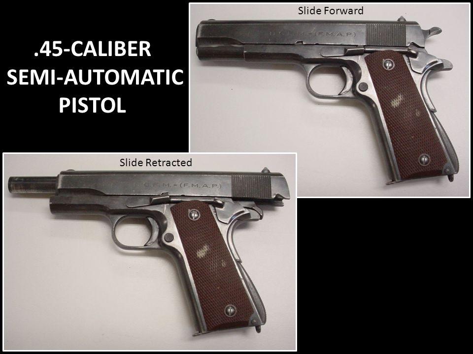 .45-CALIBER SEMI-AUTOMATIC PISTOL Slide Forward Slide Retracted