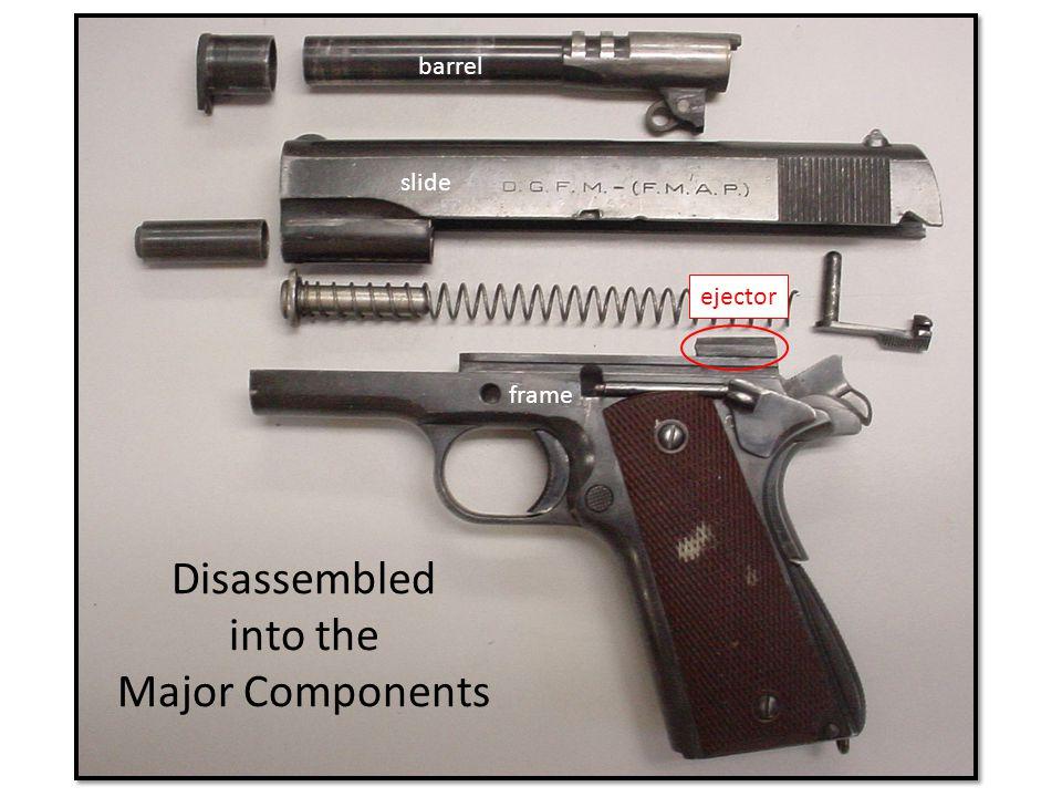 Disassembled into the Major Components frame slide barrel ejector