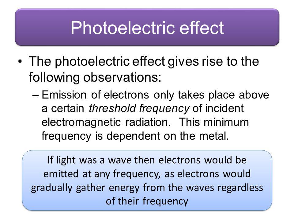 Energy Levels Example: Mercury Ionised 0.00 eV -1.59 ev -1.60 eV -2.51 eV -2.71 eV -3.74 eV -4.98 eV -5.55 eV -5.77 eV -10.44 eV This is excitation by absorption of a photon.
