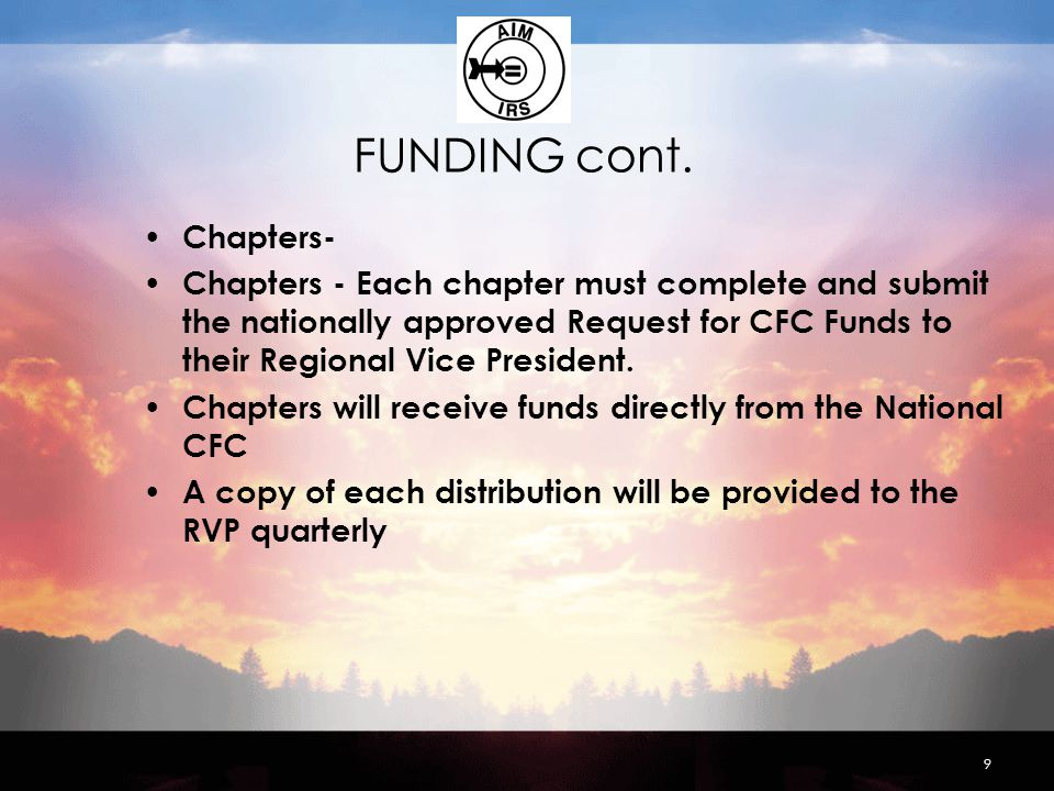 FUNDING cont.