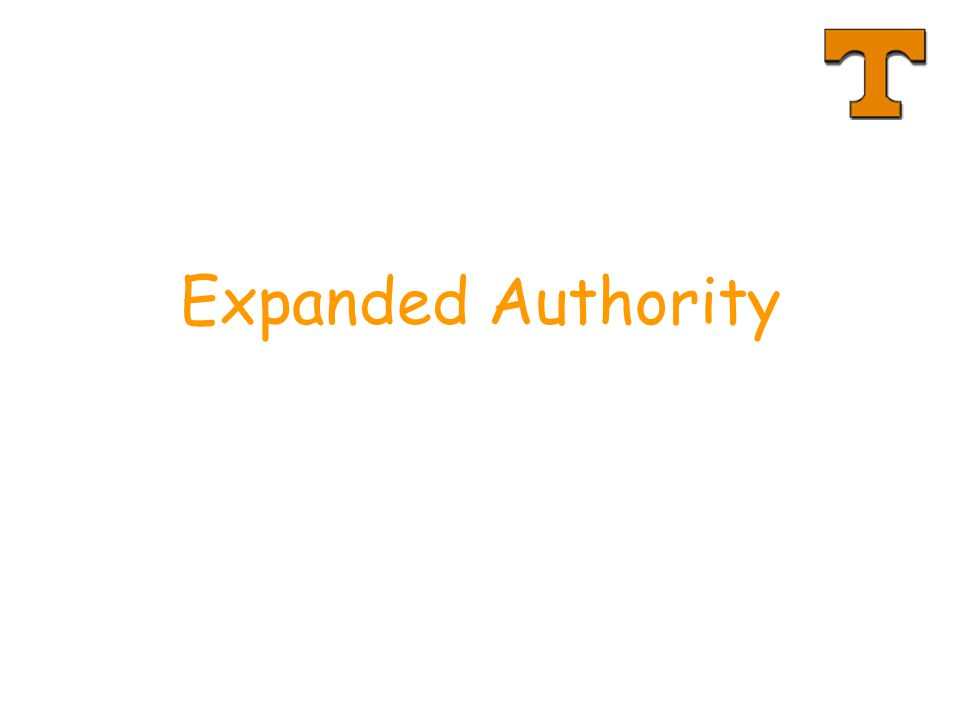 Expanded Authority