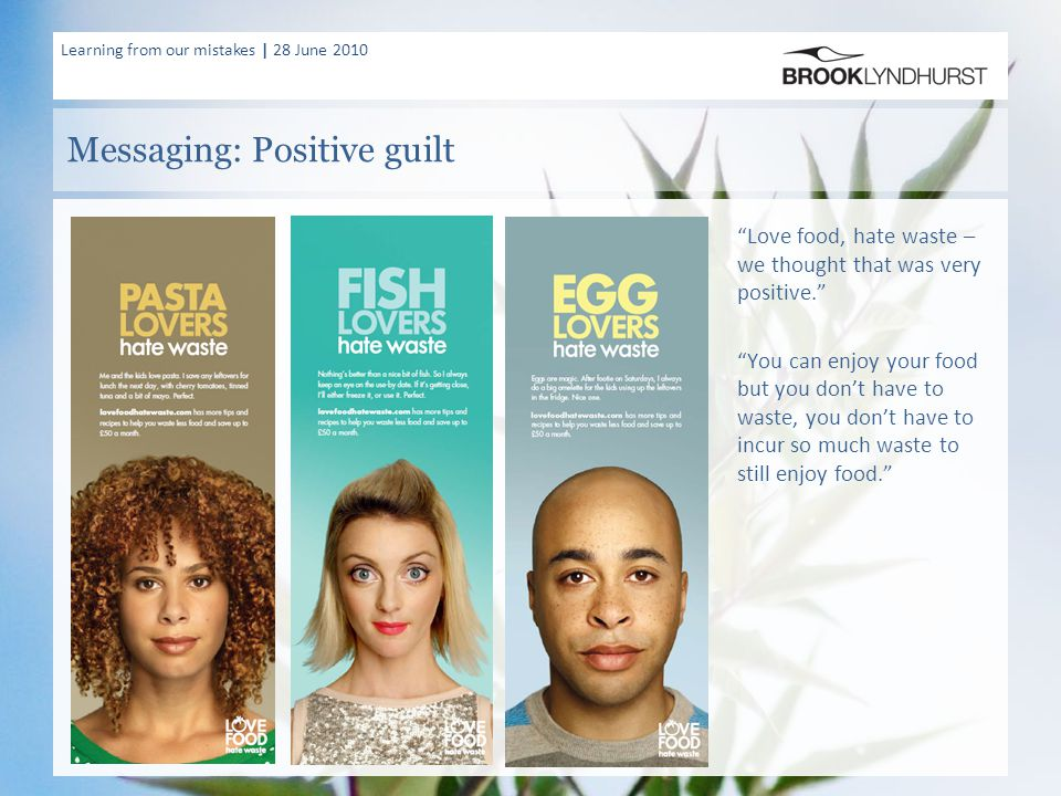 """Learning from our mistakes 