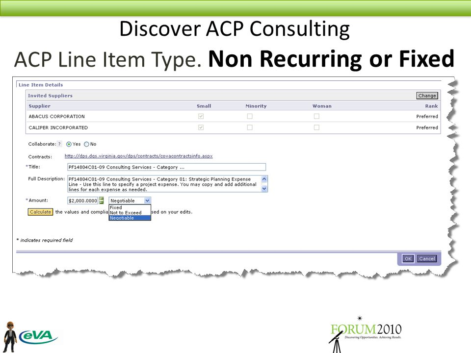 Discover ACP Consulting ACP Line Item Type. Non Recurring or Fixed