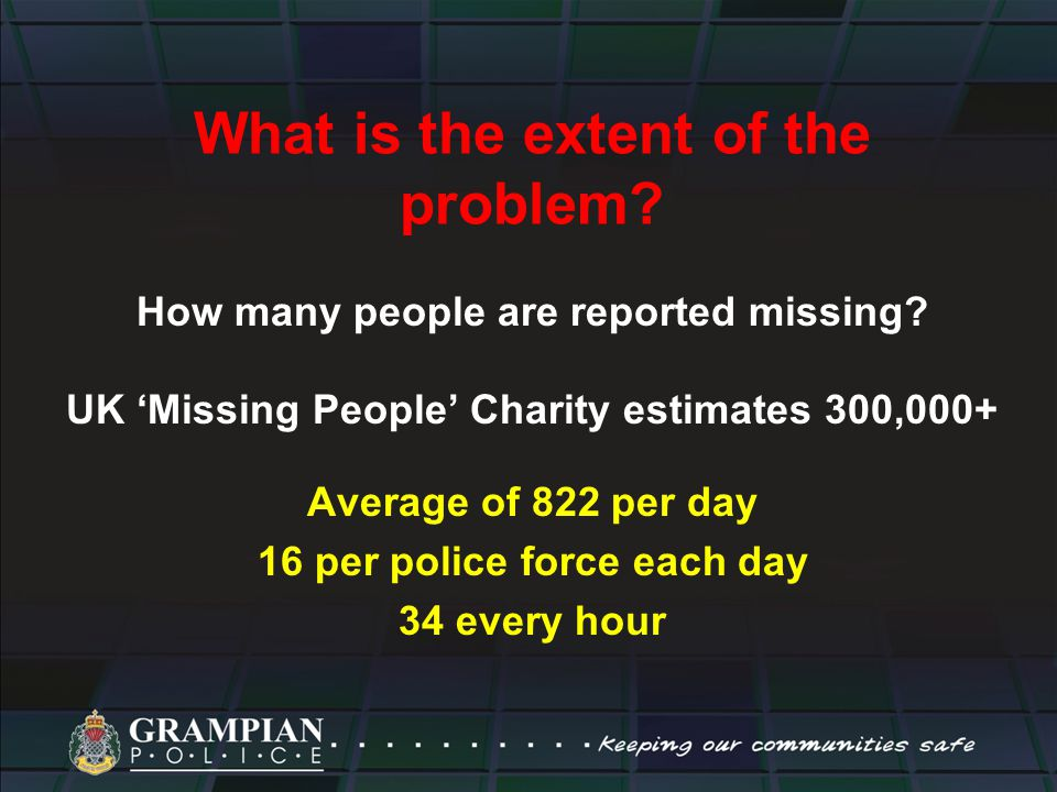 What is the extent of the problem. How many people are reported missing.