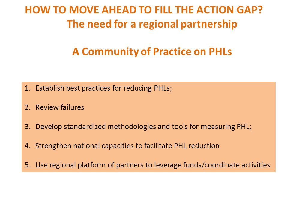 HOW TO MOVE AHEAD TO FILL THE ACTION GAP.