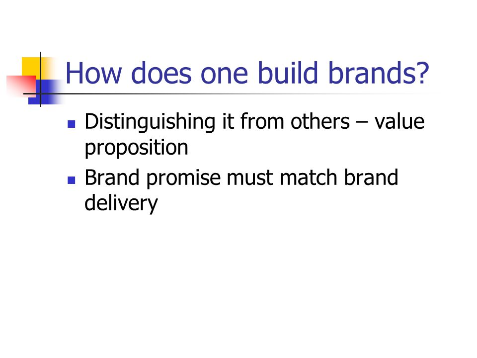 How does one build brands.