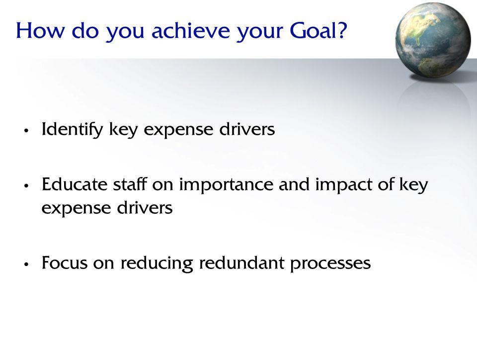 How do you achieve your Goal.