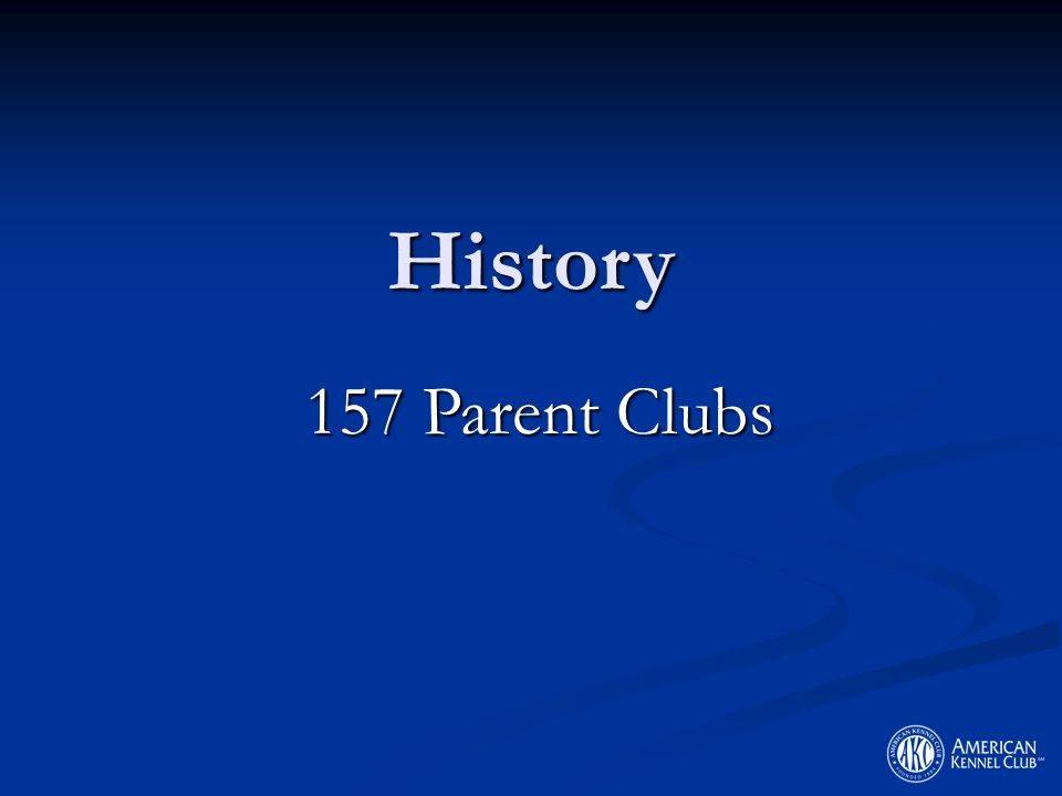 History 157 Parent Clubs