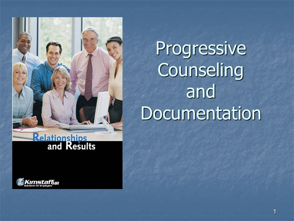 1 Progressive Counseling and Documentation