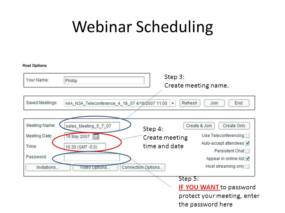Webinar Scheduling Step 6: Click Manage Contacts