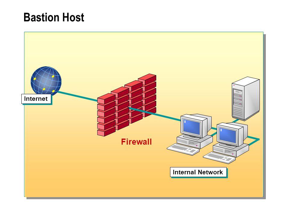 Bastion Host Internet Internal Network Firewall