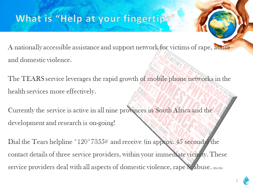 A nationally accessible assistance and support network for victims of rape, abuse and domestic violence.