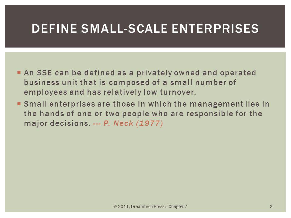 1 Financial assistance 2 Technical assistance 3 Marketing assistance ASSISTANCE FOR SMALL-SCALE ENTERPRISES © 2011, Dreamtech Press :: Chapter 7 13