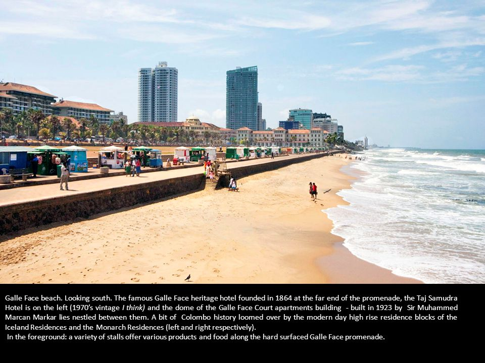 Galle Face beach. Looking south.