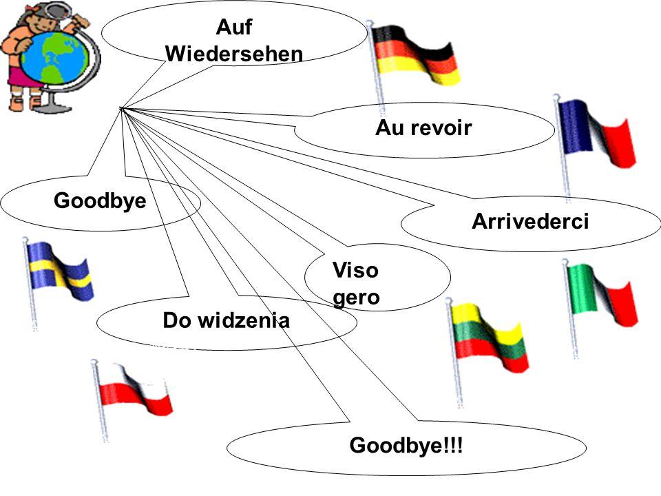 Auf Wiedersehen Au revoir Arrivederci Goodbye Viso gero Do widzenia Goodbye!!!