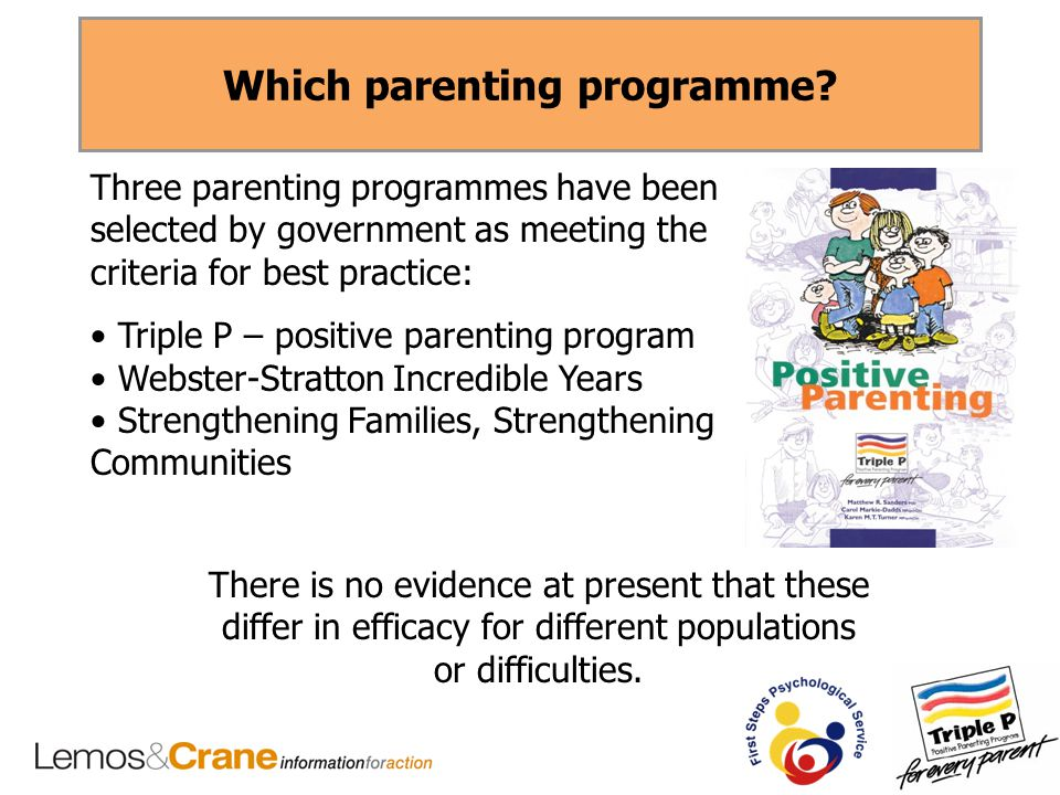 Which parenting programme.